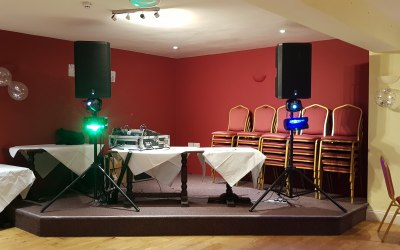 Speaker and Small lighting hire for a Wedding