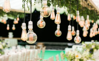 Close up of our Edison lighting