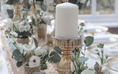 Golden Wedding Anniversary Table Centrepiece