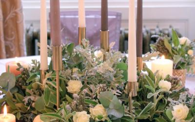 Romantic Candlelit Centrepiece at Lartington Hall