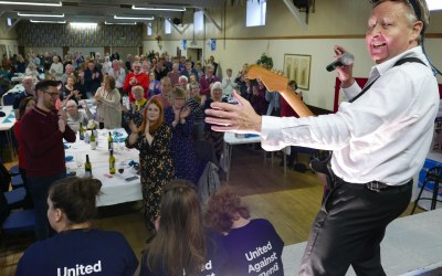 Standing ovation in Minsterley, Shropshire