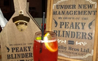 The 'Danny Wizbang' cocktail from one of our Peaky Blinders themed bars.