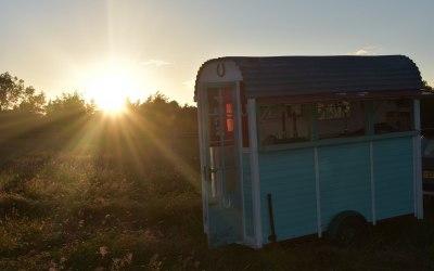 Horsebox bar shining on Solstice Day!