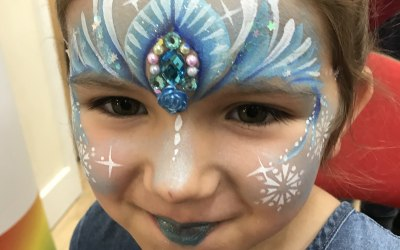 Face paint with gems