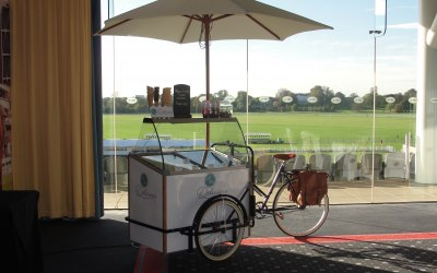 Our Pashley Trike ready for service at York Racecourse