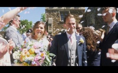 Katie & Alex at their Wedding in Potton, Bedfordshire.