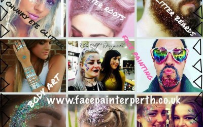 Festival Glitter, Tattoos and Face Painting