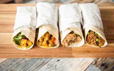 Indian inspired wraps
