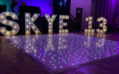 Led floor with numbers & Letters