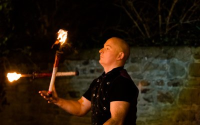 Fire walkabout, eating, juggling or fire shows