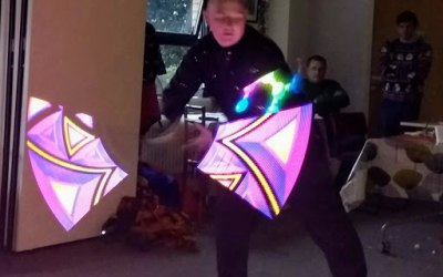 LED light staff and glow show