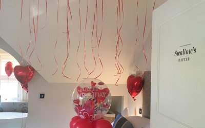 Romantic set up at Brocco On The Park boutique hotel Sheffield