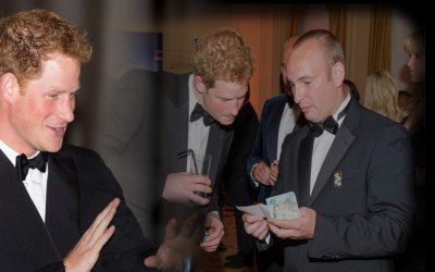 Prince Harry Entertained By Shane Sterling
