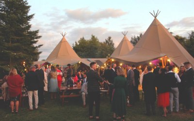 The Secret Bars - Tipi wedding with bars catering for up to 300 guests