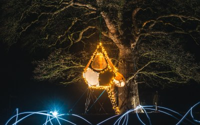 Chrysalis Pod - Night lighting
