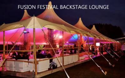 LED Wash Lights for back Stage at Fusion Festival