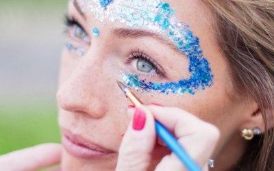 Chunky Glitter Festival Face Paint