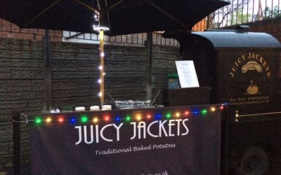 Private party catering specialists. Juicy Jackets offer a quirky alternative.