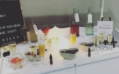 Our very popular 'Pimp Your Prosecco' Cart