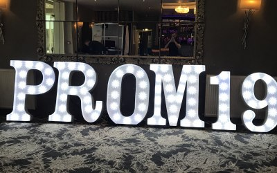 PROM 19 Light Up Letters