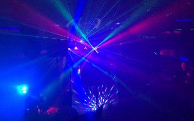 Light show with smoke