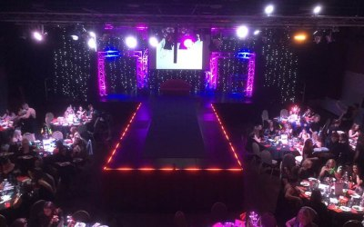 Catwalk and stage truss work and Lighting