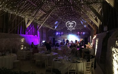 Fairy Light Canopy, projection and stage lighting