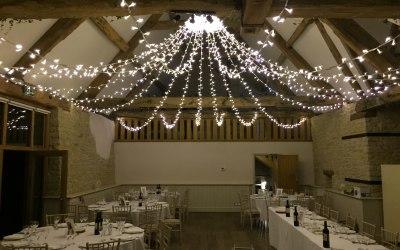 Fairy Light canopy, Wick Farm Bath