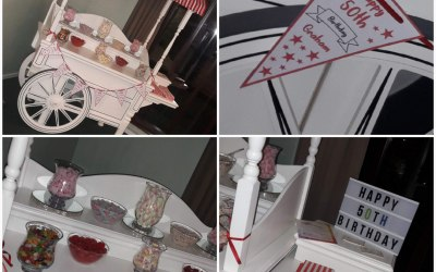 50th Birthday to the theme of a Barn Dance. Included a personalised banner