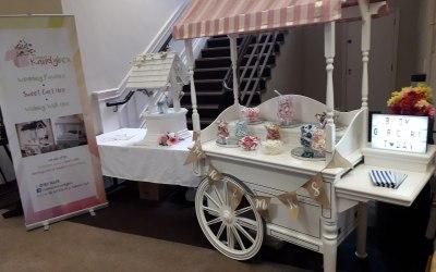 Display at a wedding fayre at Rodbaston Hall in Staffordshire
