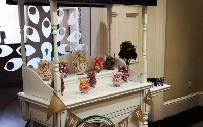 Cadbury themed wedding at Rodbaston Hall
