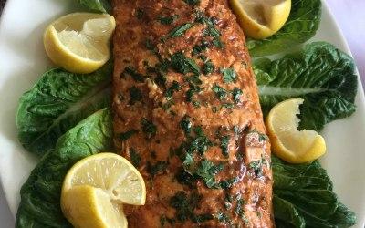 BBQ Salmon with Honey & Chilli Glaze
