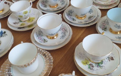 Packing up our crockery for a Diamond Wedding