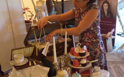 Amy setting up at a Wedding Fayre