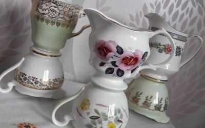 Gorgeous vintage milk jugs