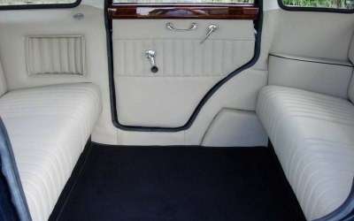 interior of vintage limousine