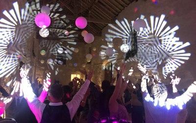 Wedding lighting and set up