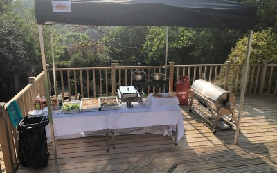 Our bbq set up