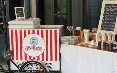 Our beautiful wedding ice cream trike