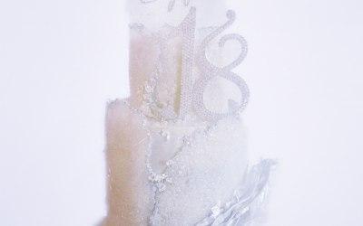 Glitter & Glam 18th Birthday Cake