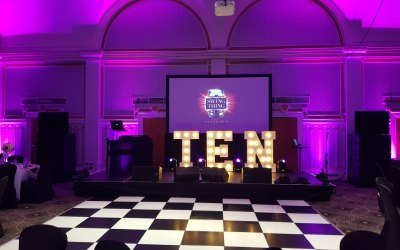 Uplighting & Sound Supplied For A Cancer Charity Ball At The Queens Hotel in Leeds