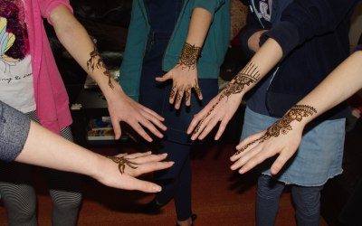 teenage part with henna