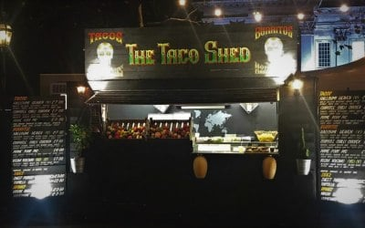 The Taco Shed wooden unit