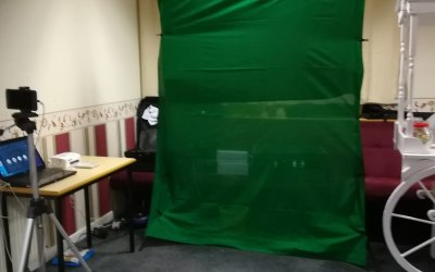 Our New Green Screen Photo Station.