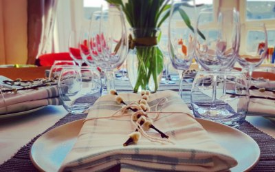 Private dinner table setting