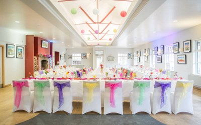 Chair covers and coloured sashes