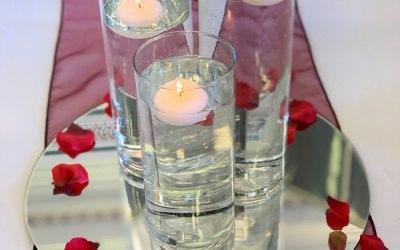 Centrepiece - cylinder vases