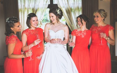 Katie with her gorgeous bridesmaids