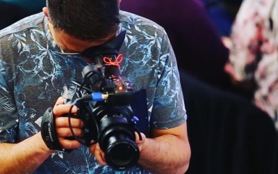 Filming at a conference