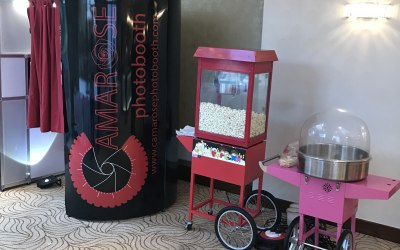 Candy floss ,popcorn and Photobooth